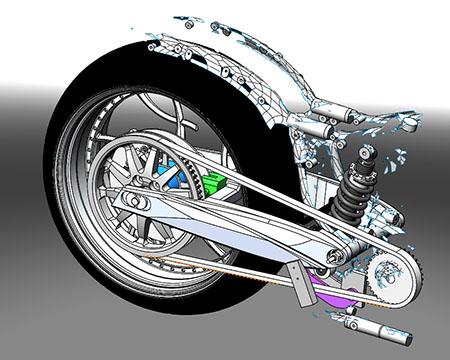 3d модель задней части мотоцикла