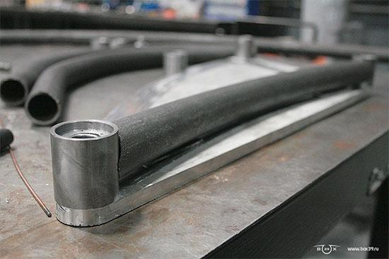 Состыковка труб с основными осевыми фланцами рычажной вилки box39 мотоцикл springer fork