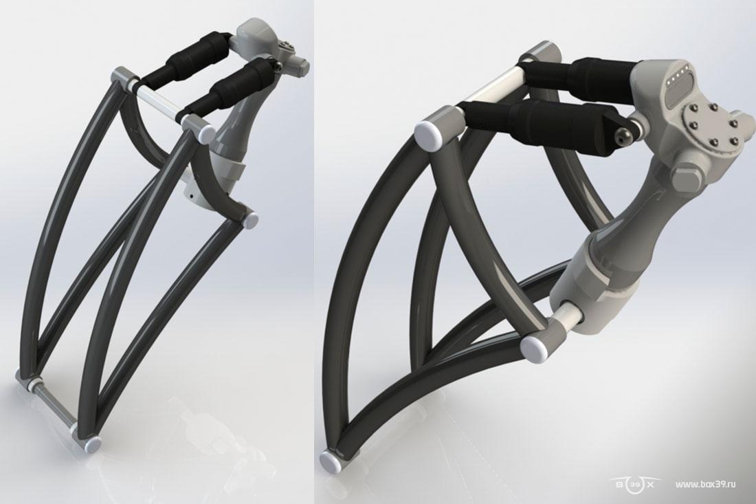рычажная вилка sali box39 springer fork 3d модель