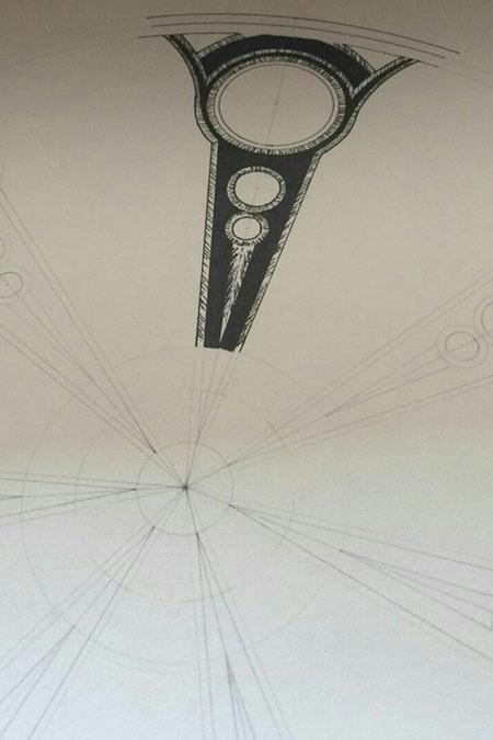Эскиз колеса