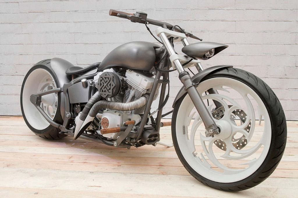 Кастом мотоцикл Harley-Davidson SERB мастерской box39