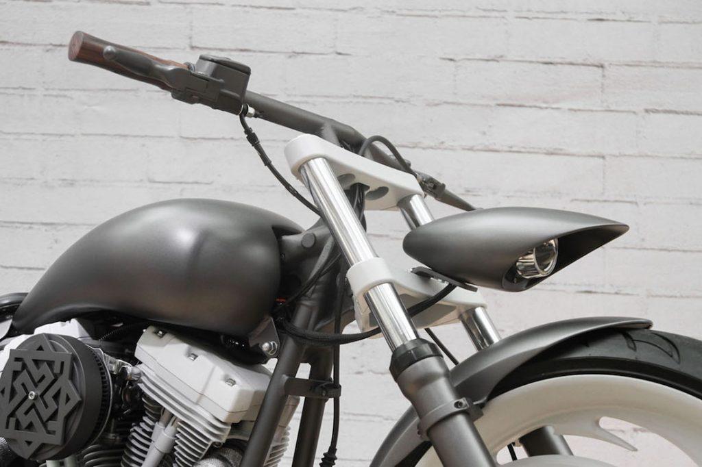 Кастомные руль, фара и алюминиевый бак проекта SERB box39